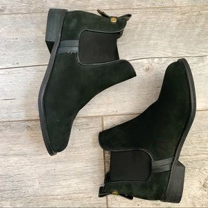 Steve Madden Suede Black Booties Size 6